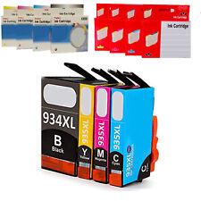 HP 934 935 XL CARTUCCIA COMPATIBILE NO ORIGINALE BK C M Y KIT CON CHIP