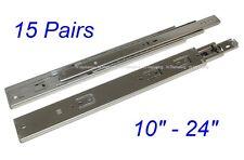 "15 Pairs Soft Close Full Extension 100-lb Ball Bearing Drawer Slides 10-24"" SL01"