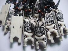 Tribal Yak Hueso Tallado Tiki Diablo Totem Collar Colgante Totem Luau Hula Surf