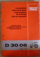 Deutz Fahr Schlepper D 3006 Ersatzteil-Liste