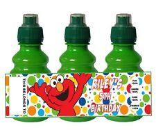 PERSONALISED Elmo Sesame Street  FRUIT SHOOT BOTTLE LABEL Party Bag Fillers