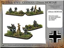 Forged in Battle FOW WW2 15mm German 12cm Mortar Teams 120mm
