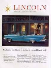 1957 LINCOLN PREMIERE CONVERTIBLE Original Print Ad