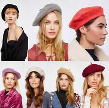 Women Sweet Solid Warm Wool Winter Beret French Artist Beanie Hat Ski Cap Hat so