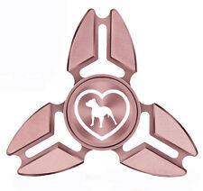 Fidget Spinner Tri-Spinner Aluminum Metal Pit bull Heart