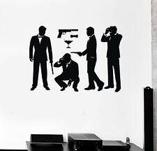 Wall Decal Agent James Bond MI6 Spy CIA Intelligence Vinyl Stickers (ig2884)