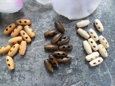 10 Knebelknöpfe 15 mm 1,5 cm Holz Puppenknöpfe Jacke Tasche Kleidung Puppe