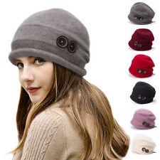 a69b385ddeeee Womens 100% Wool Beanies Skull Hats Slouchy Baggy Knit Winter Cap Bonnet  T178