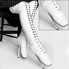 Lack Overknee Ballett High Heels weiß von Kassiopeya Gr. 36-46 '913037363'