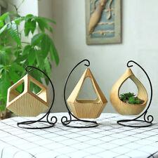 AU Vase Hanging Planter Ceramics Flower  Round Container Home Garden Decor Clear