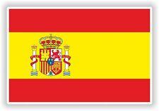 """España Bandera pegatina de parachoques etiqueta del vinilo 2.6 """"x4"""" Spagnola Español Bandera España"""