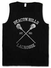 BEACON HILLS LACROSSE TANK TOP Sign Teen Logo Wolf Team High School Trikot