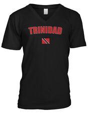 Republic of Trinidad and Tobago Port of Spain Flag Mens V-neck T-shirt