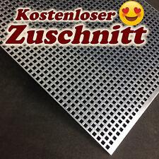 Lochblech QG 5-8 Stahl Güntig verzinkt Blechstreifen Platte auf Maß Individuell