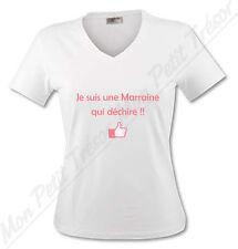 T-shirt Femme Je suis une Marraine qui déchire - du S au XL