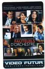 VIDEO FUTUR collector  FAUTEUILS D'ORCHESTRE   (307)
