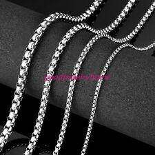 """N137 18-40/""""MEN Acero Inoxidable 6mm//8mm Collar Cadena de enlace de hueso de enclavamiento de plata"""