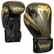 VENUM IMPACT BOXING / MUAY THAI GLOVES - KHAKI / GOLD