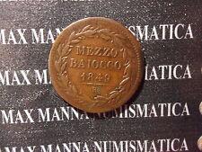 STATO PONTIFICIO PIO IX 1/2 BAIOCCO 1849 RAME ROMA ANNO IV 1° TIPO