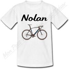 T-shirt Enfant Vélo avec Prénom Personnalisé