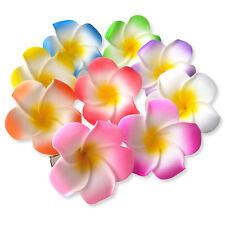 5cm Mini Plumeria Frangipani Flower Hair Clips. Orchids Summer Hawaiian Kids