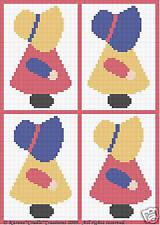 Crochet Patterns-SUNBONNET Baby GIRL Scrap Yarn Pattern