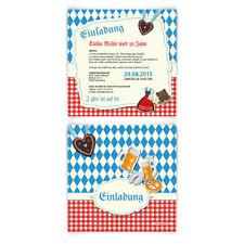 Einladungskarten zum Geburtstag bayrisch Oktoberfest Einladung Bayern Karten