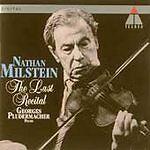NATHAN MILSTEIN - Last Recital - CD - Import - **BRAND NEW/STILL SEALED** - RARE