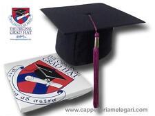 """cappello da laurea """"tocco"""" tesi di laurea università Original Grad Hat fucsia"""