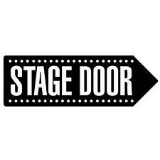 STAGE DOOR - BLACK   Metal Wall Sign Arrow Plaque   Theatre Dance Drama School