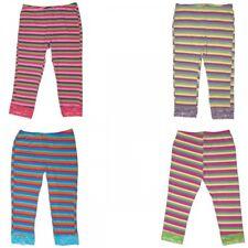 ragazza leggings lungo a righe pizzo elastico PANTALONI STRETCH TGL 134 - 170