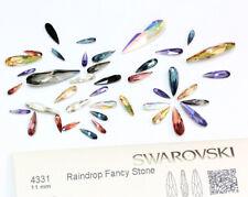 Genuine Swarovski 4331 goutte de pluie Fantaisie Pierres Cristaux * Plusieurs Couleurs & Tailles
