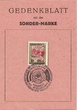 CARTE LETTRE AUTRICHE OSTERREICH GEDENKBLATT MIT DER SONDER MARKE 1946