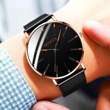 Stylish Geneva Mens Watches Quartz Watch Stainless Steel Casual Analog Watch UK