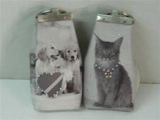 Portachiavi portachiave SMILE BAGS con soggetto gatto cani brillantini M510