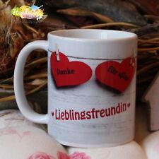 Tasse / Für die beste Freundin -Herzen / Weihnachten Freundschaft Valentinstag
