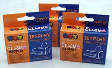 3 Canon CLI8 magenta angeschlagen passende Tintenkartuschen - UK Verkäufer