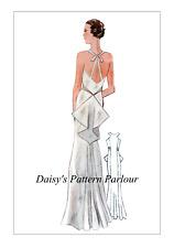 1930 Vintage Sewing Pattern Abito Da Sera Abito Eclair COUPE Parigi Cocktail Vintage