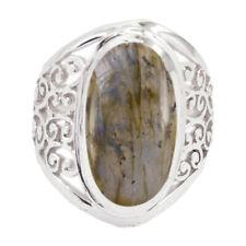 Labradorite ring - 925 Sterling Silver Ring -Grey Ring - top jewelry Gems   AU