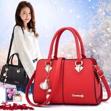 Women Leather Handbags Lady Crossbody Messenger Shoulder Tote Bag Purse Satchel