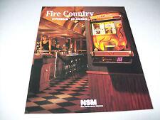 Fire LAND 1990 von NSM Original Jukebox Phonograph Sales Flyer Broschüre