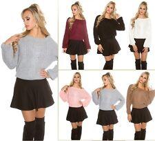 Sexy Koucla Pullover Pulli Strickpullover Sweater Zopfmuster