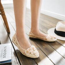 Women Pumps Lace Floral Bridesmaid Shoes Soft Sole Casual Ballet Flats Slip On