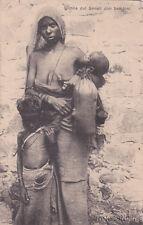 * ERITREA - Donna del Senait con bambini, Francobollo c.20 su 15c. (n.46) 1925