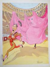 Affiche CORRIDA de TOROS Signé PELET 89 Un Fantome dans les Arènes Humoristique