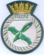 British HMS Royal Magpie RN Navy Sloop War Ship Patch Swan Class Sloop U Patrol