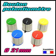 1303# 1 à 10pcs ø21mm bouton pour potentiomètre axe 6mm- excellente qualité