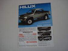 advertising Pubblicità 1990 TOYOTA HILUX HI LUX