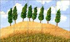 Landscape Tile Backsplash Altman Tree Art Ceramic Mural RWA022