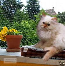 Katzenschutznetz Balkonnetz Katzennetz in 5 Größen transparent o. schwarz G